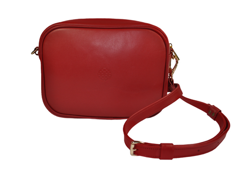 red leather messenger bag with removable strap