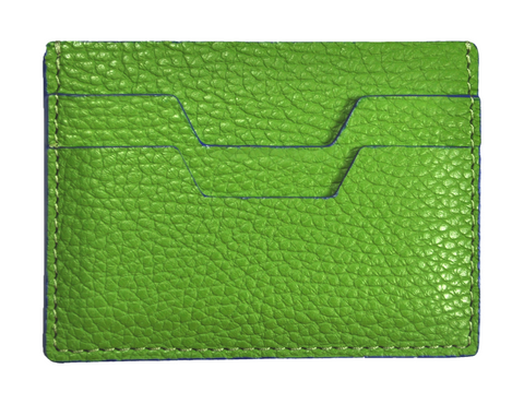 LEATHER HANDPAINTED CARDHOLDER - GREEN luloplanet