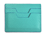 LEATHER  HANDPAINTED CARD HOLDER - TURQUOISE luloplanet