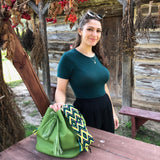 wayuu bag leather bag mochila wayuu bucket bag avocado green luloplanet