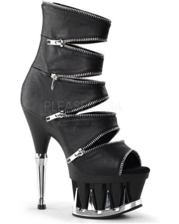 "6"" Shark Teeth Platform Cut Out Bootie Sandal-Pleaser-Exotic Angels Boutique"