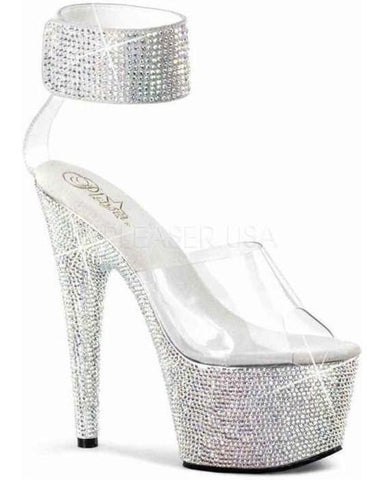 "7"" Platform Heel with Rhinestones-Pleaser-Exotic Angels Boutique"