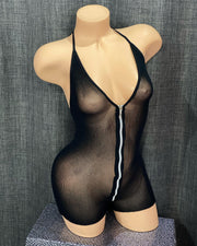 Hot Zip Bodysuit-Minor Creations-Exotic Angels Boutique