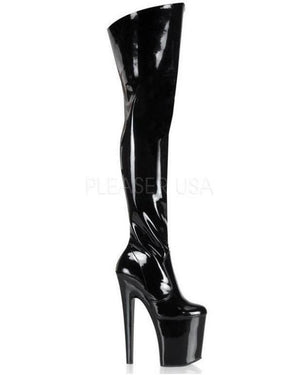 "8"" Spiked Heel Thigh High Boot-Pleaser-Exotic Angels Boutique"