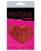 Red Glitter Heart Pasty Set-Pastease-Exotic Angels Boutique