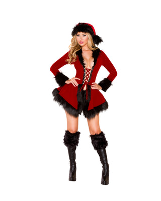 Two Piece Evil Santa Costume-Roma Costume-Exotic Angels Boutique