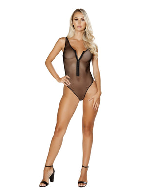 Zip Up Fishnet Teddy-Roma Costume-Exotic Angels Boutique