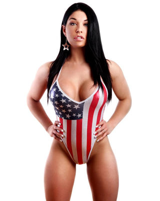 American Flag High Hip Bodysuit-BodyZone-Exotic Angels Boutique