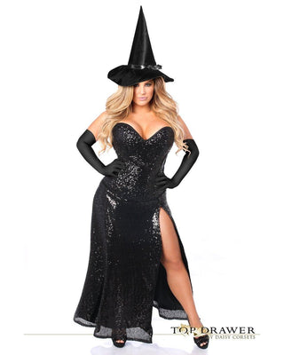 Premium Sequin Witch Corset Costume-Daisy Corsets-Exotic Angels Boutique