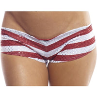 American Pot Print Scrunch Back Super Micro Shorts-BodyZone-Exotic Angels Boutique