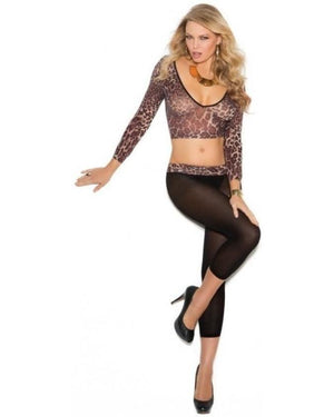 Animal Print Opaque Cami Top And Matching Leggings-Elegant Moments-Exotic Angels Boutique