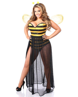 Lavish Four Piece Sexy Bumblebee Costume-Daisy Corsets-Exotic Angels Boutique