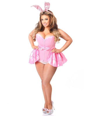 Lavish Three Piece Playful Pink Bunny Costume-Daisy Corsets-Exotic Angels Boutique