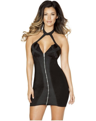Criss Cross Zip Up Dress-Roma Costume-Exotic Angels Boutique