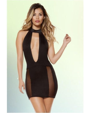 Cutout Mesh Slit Dress-Roma Costume-Exotic Angels Boutique