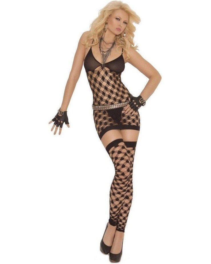 Naughty In Net Three Piece Set-Elegant Moments-Exotic Angels Boutique