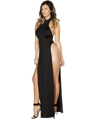 Halter Neck Maxi Dress With Slits-Roma Costume-Exotic Angels Boutique