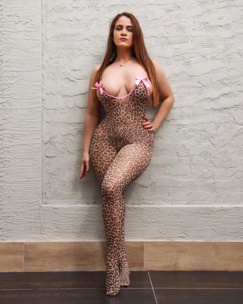 Leopard Lady Body Stocking-Elegant Moments-Exotic Angels Boutique