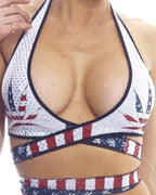 American Pot Print Wrap Around Top-BodyZone-Exotic Angels Boutique