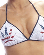 American Pot Print Tri Top-BodyZone-Exotic Angels Boutique