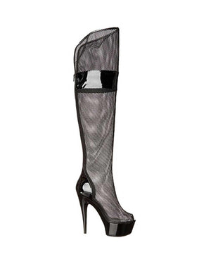 "6"" Mesh Thigh High Boot-Ellie-Exotic Angels Boutique"