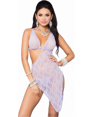 Lace Asymmetrical Chemise With Matching G-String-Elegant Moments-Exotic Angels Boutique