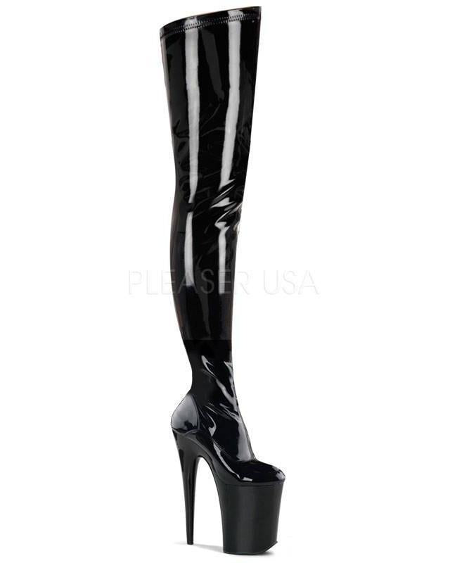 "9"" Platform Stretch Crotch Boot-Pleaser-Exotic Angels Boutique"