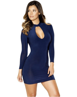 Long Sleeve Cut Out Dress-Roma Costume-Exotic Angels Boutique