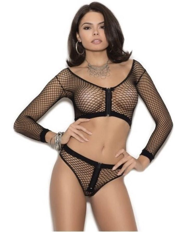 Naught Net Cami Set-Elegant Moments-Exotic Angels Boutique
