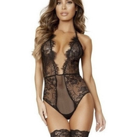 Low Cut Lace Teddy-Roma Costume-Exotic Angels Boutique