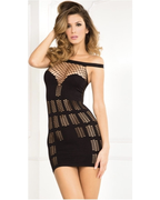 Multi Net Mini Dress-Rene Rofe-Exotic Angels Boutique