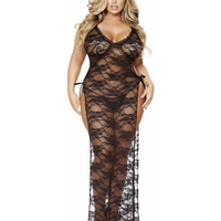 Plus Size Lace Gown With Side Ties-Roma Costume-Exotic Angels Boutique