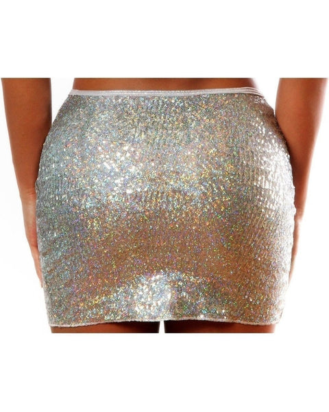 Sequin High Waist Skirt-BodyZone-Exotic Angels Boutique