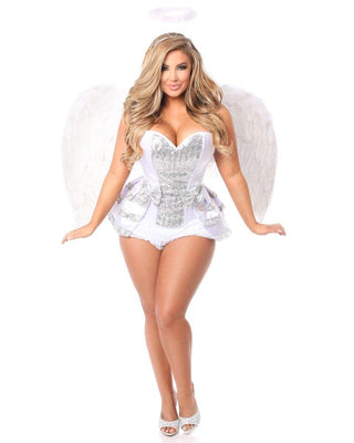 Five Piece Innocent Angel Costume-Daisy Corsets-Exotic Angels Boutique