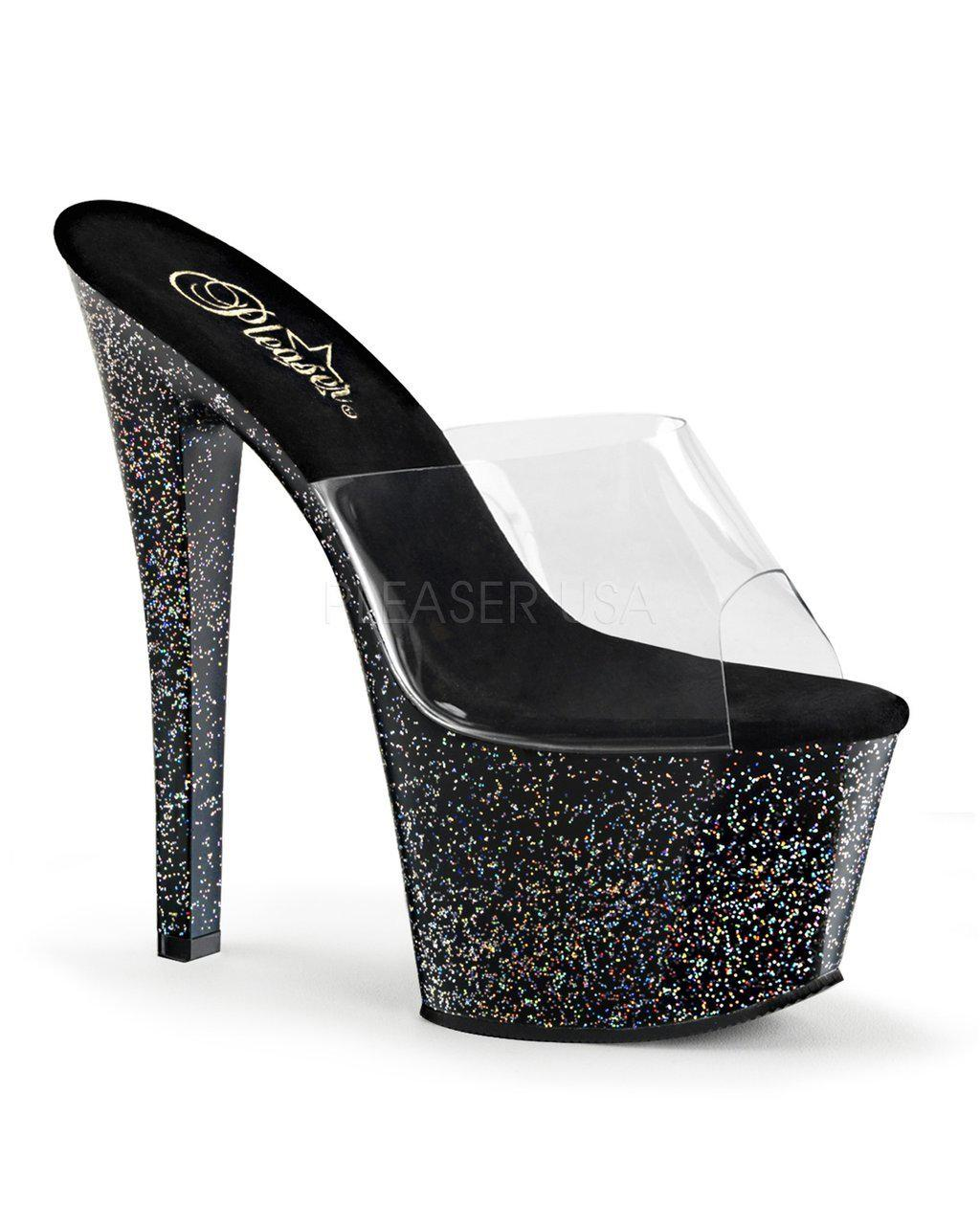 "7"" Glitter Platform Slide-Pleaser-Exotic Angels Boutique"