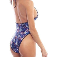 Spangled Stars High Hip Bodysuit-BodyZone-Exotic Angels Boutique