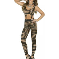 Striped Opaque Bodystocking-Elegant Moments-Exotic Angels Boutique