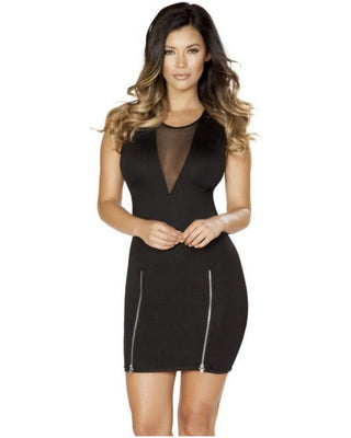 Zipper Detail Mini Dress-Roma Costume-Exotic Angels Boutique