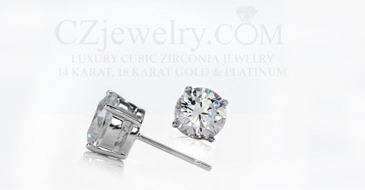 Get the Celebrity look with Cubic Zirconia Stud Earrings