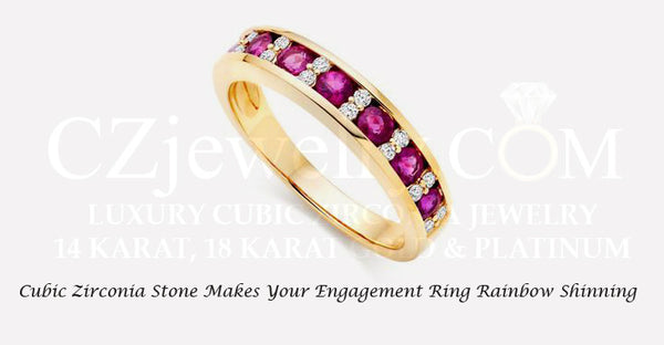 Cubic Zirconia stone makes your engagement ring rainbow shinning