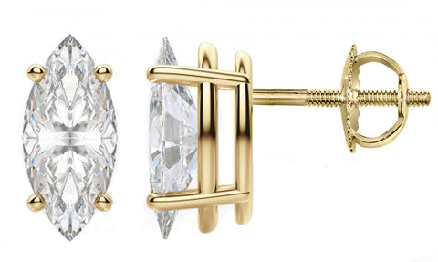 Cubic Zirconia Earrings in 14 Karat Gold 18 Karat Gold CZJEWELRY