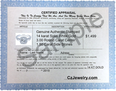Certificate of authenticity czjewelry czjewelry 1 cubic a jewelry certificate is a report that attests to the authenticity of a karat in jewelry it is a reliable and accurate statement of the karat and grade yadclub Choice Image