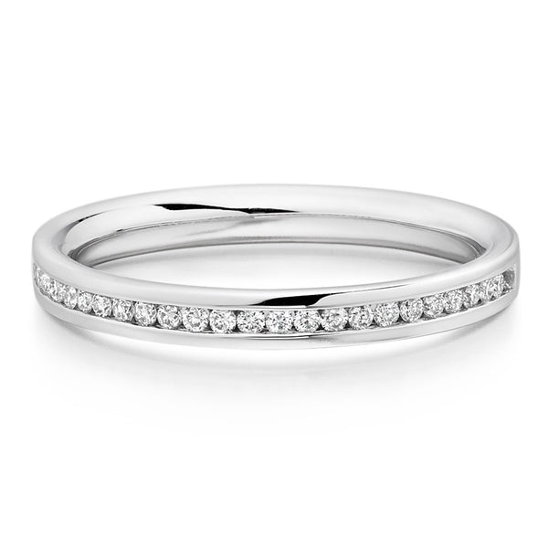 Choose in 14 Karat, 18 Karat or Platinum White Gold Diamond Eternity Ring