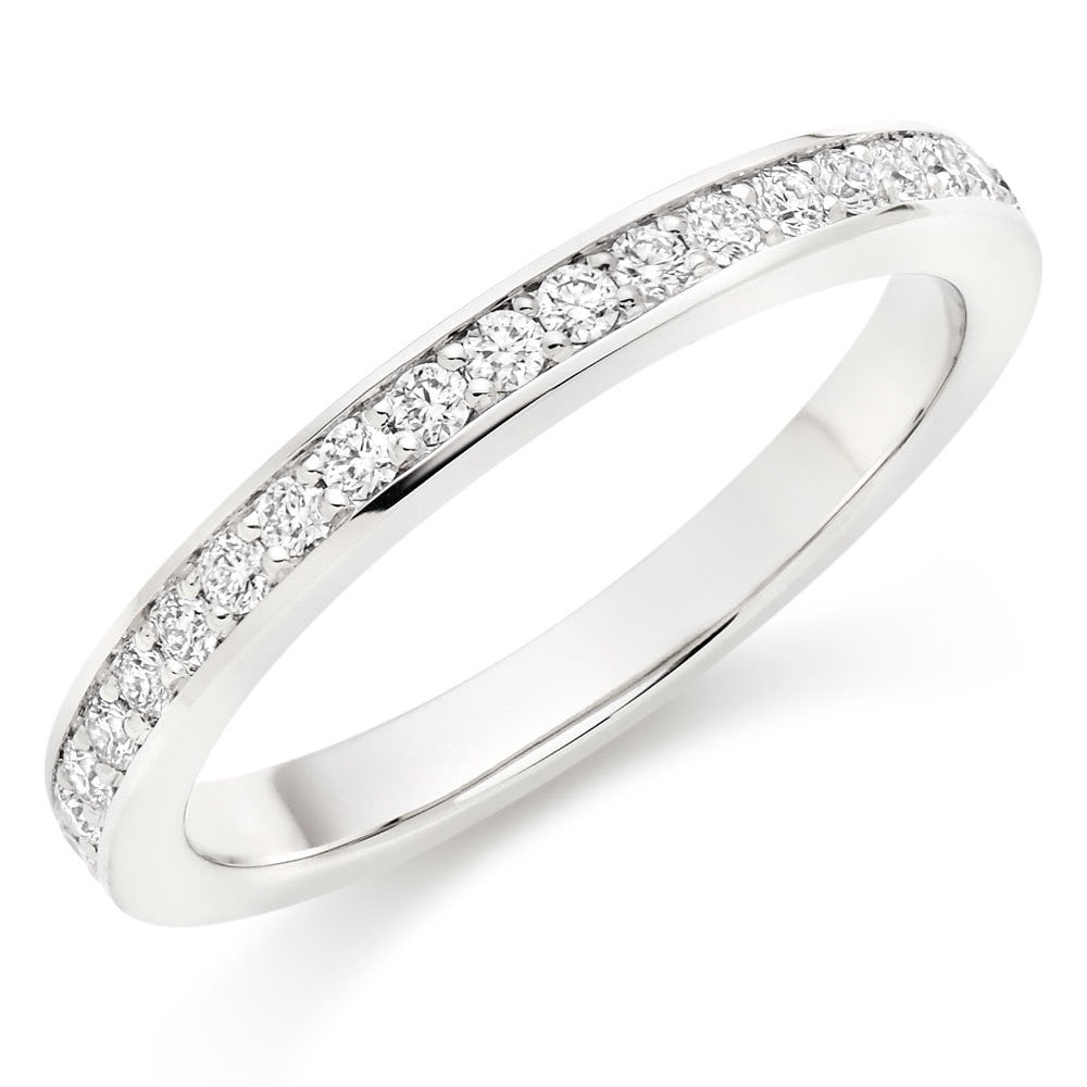 Choose in 14 Karat, 18 Karat or Platinum Hearts On Fire Enticement Diamond Half Eternity Ring