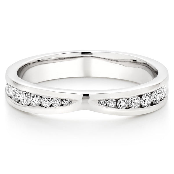 Choose in 14 Karat, 18 Karat or Platinum White Gold Sparkle Cut Ladies Wedding Ring