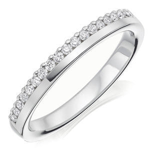 Wedding Ring With Round Stones In 1.50 Carat Total Weight.