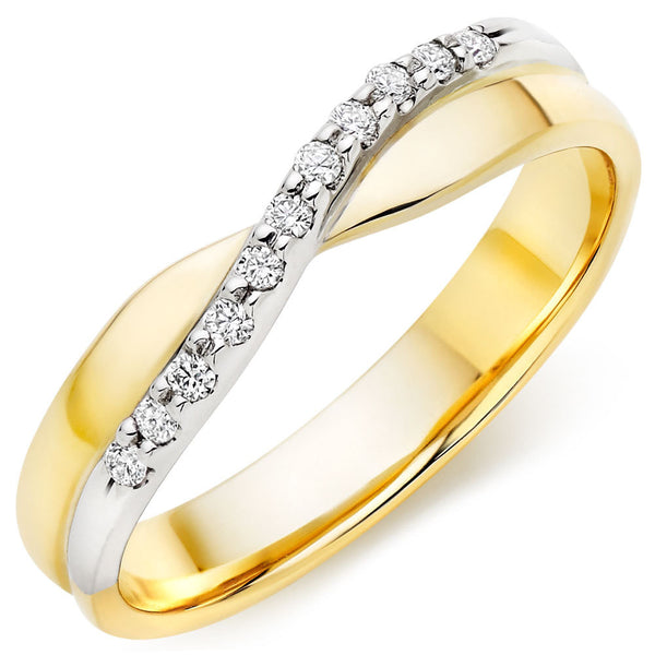 Choose in 14 Karat, 18 Karat or Platinum Gold and White Gold Diamond Ladies Wedding Ring