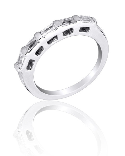 Channel Set Baguette Wedding and Anniversary Ring