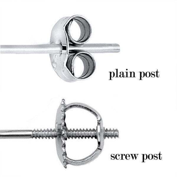 Platinum 4-Prong Basket Round Stud Earrings With Screw Backing. Available From .25 Carat To 10 Carat.