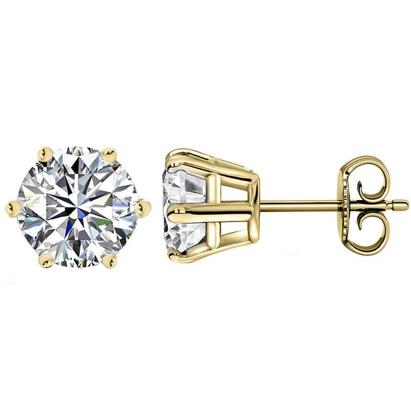 14 KARAT YELLOW GOLD 6-PRONG ROUND 6.00 C.T.W